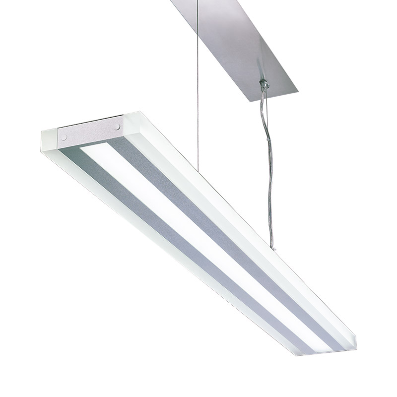 LED-085 LED acrylic suspension linear lamp and chandelier direct light indoor lamp for office and commercial use