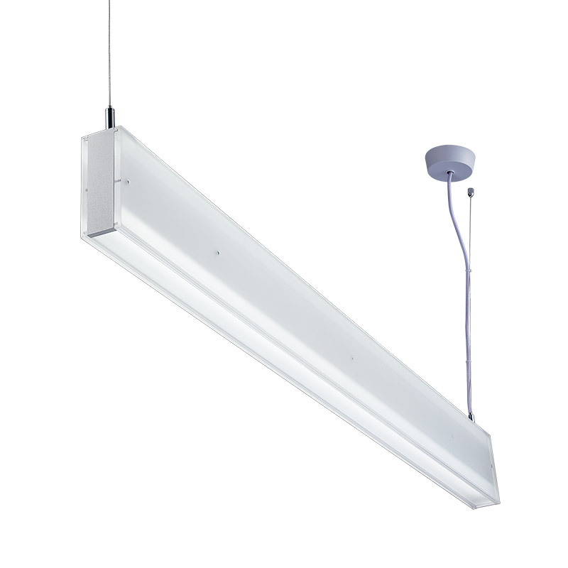 LED-081 LED acrylic suspension linear lamp and chandelier direct and indirect light indoor lamp for office and commercial use