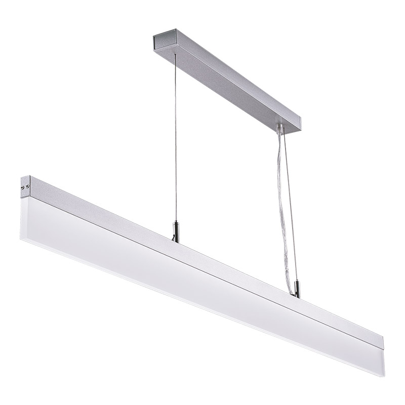 LED-039A LED acrylic suspension linear lamp and chandelier direct light indoor lamp for office and commercial use