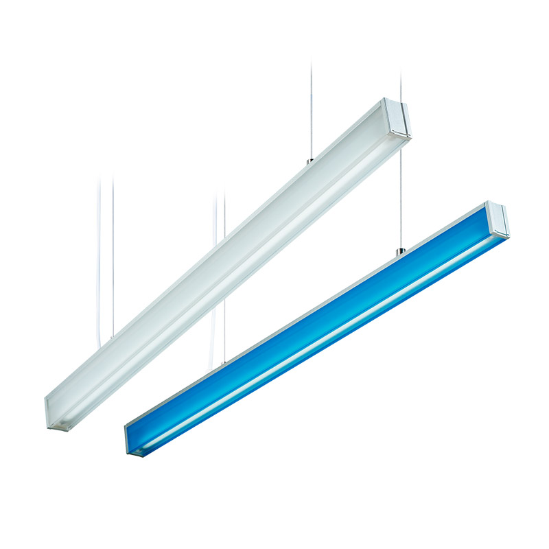 LED-084 LED acrylic suspension linear lamp and chandelier direct light indoor lamp for office and commercial use