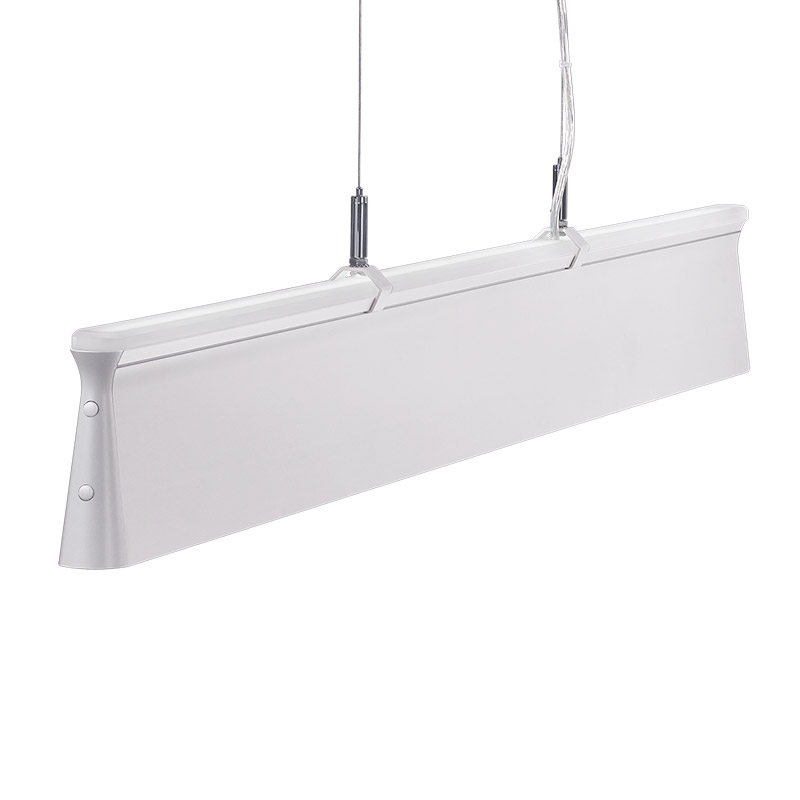 LED-067 LED acrylic suspension linear lamp and chandelier direct and indirect light indoor lamp for office and commercial use