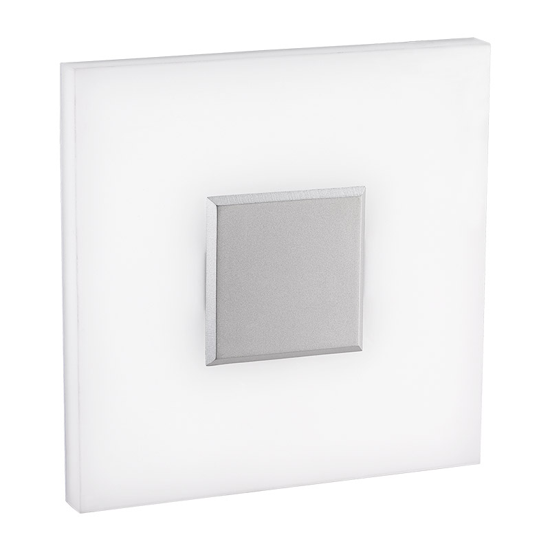 LED-13B LED wall lamp, square art lamp, hand made acrylic diffuser, for residential, corridors and architectural use.