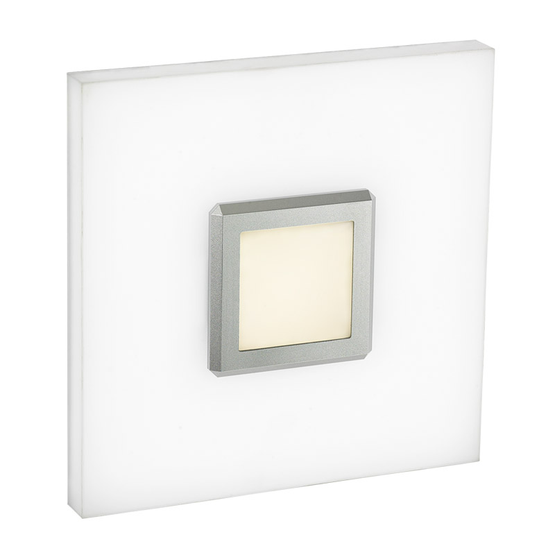 LED-13C LED wall lamp, square art lamp, hand made acrylic diffuser, for residential, corridors and architectural use.