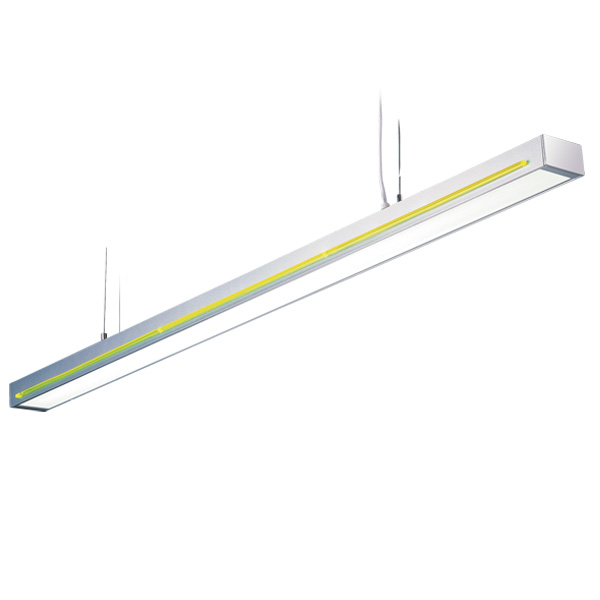 DZ2-1611I T5 suspension indoor lamp, acrylic decorative strips, for office and commercial and residential use.