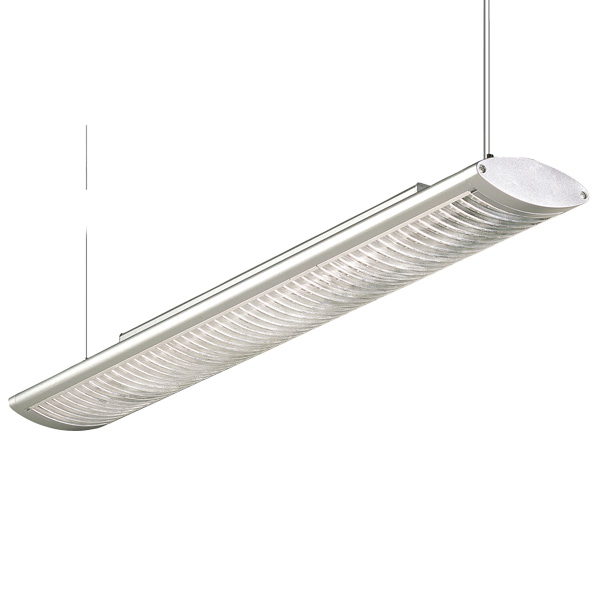 DZ2-1612T T5 suspension indoor lamp, acrylic decorative strips, for office and commercial and residential use.