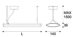 LED suspension linear lamp aluminium lighting fixture indoor chandelier lamp for office and commercial use LED-025