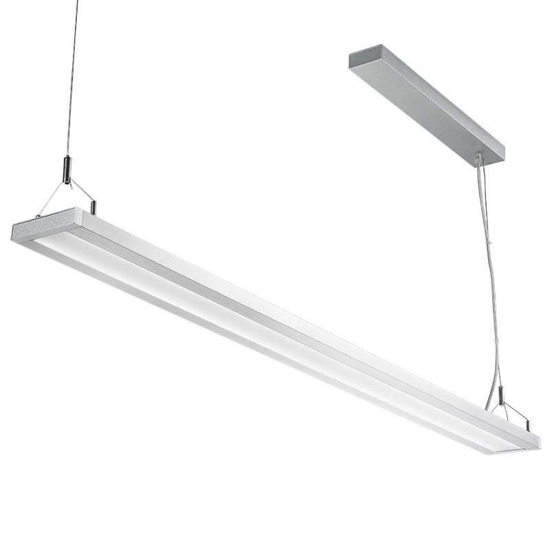 LED suspension linear lamp aluminium lighting fixture up and down light indoor chandelier lamp for office and commercial use LED-037