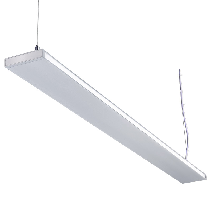 Led Suspension Linear Lamp Aluminium Lighting Fixture Indirect Light Indoor Chandelier For Office And Commercial