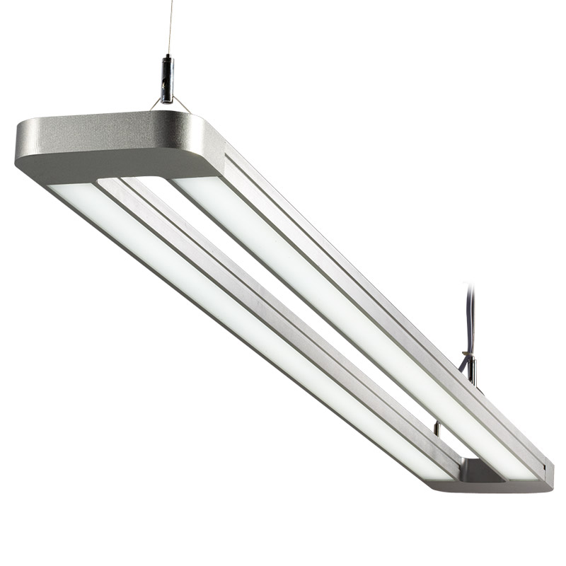 Led suspension linear lamp aluminium lighting fixture indoor led suspension linear lamp aluminium lighting fixture direct light indoor chandelier lamp for office and commercial mozeypictures Images