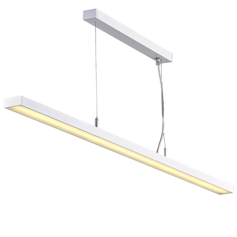 LED suspension linear lamp aluminium lighting fixture ultra thin lamp indoor chandelier lamp for office and commercial use LED-062A