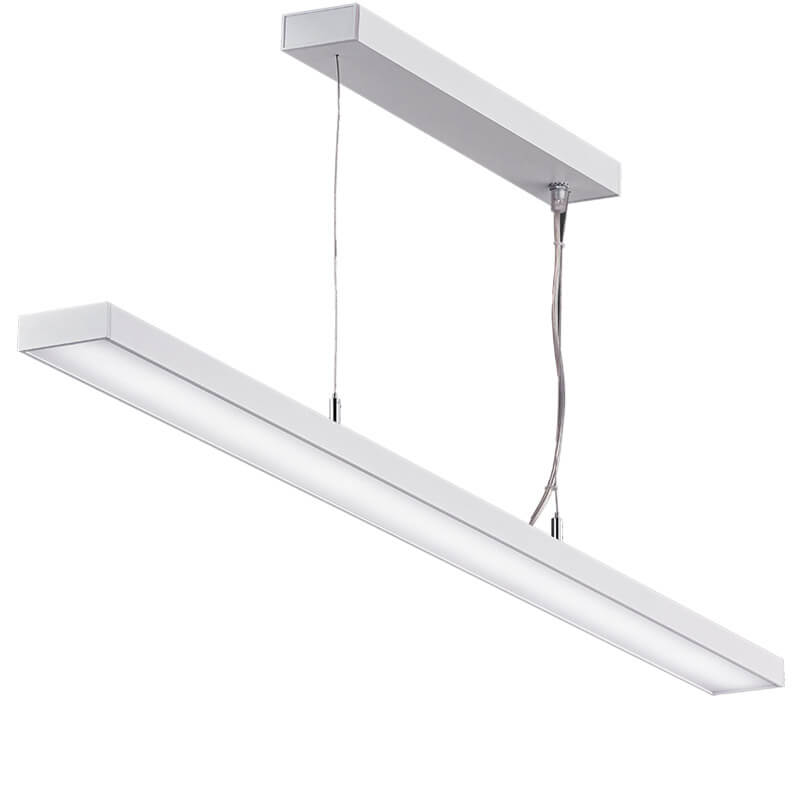 LED suspension linear lamp aluminium lighting fixture ultra thin lamp indoor chandelier lamp for office and commercial use LED-062B