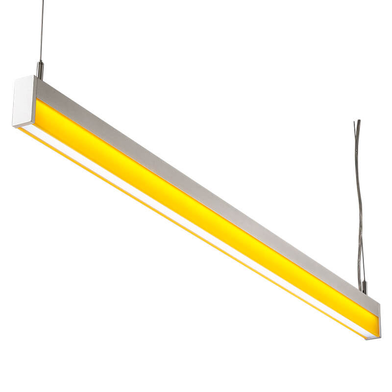LED-034 LED acrylic suspension linear lamp and chandelier direct light indoor lamp for office and commercial use