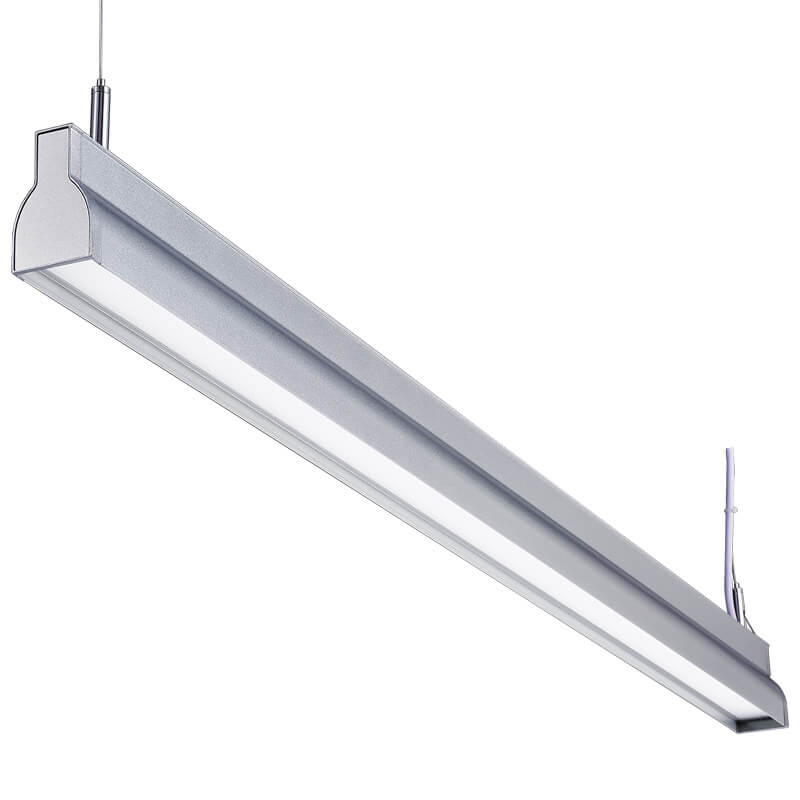 LED suspension linear lamp aluminium lighting fixture direct ilumination indoor chandelier lamp for office and commercial use LED-043