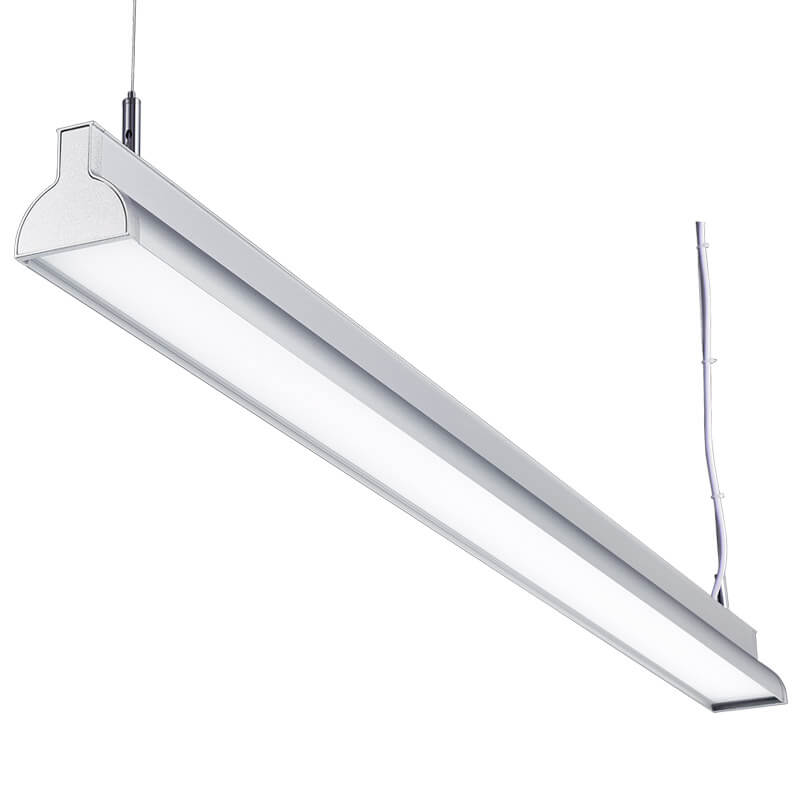 LED suspension linear lamp aluminium lighting fixture direct ilumination indoor chandelier lamp for office and commercial use LED-044