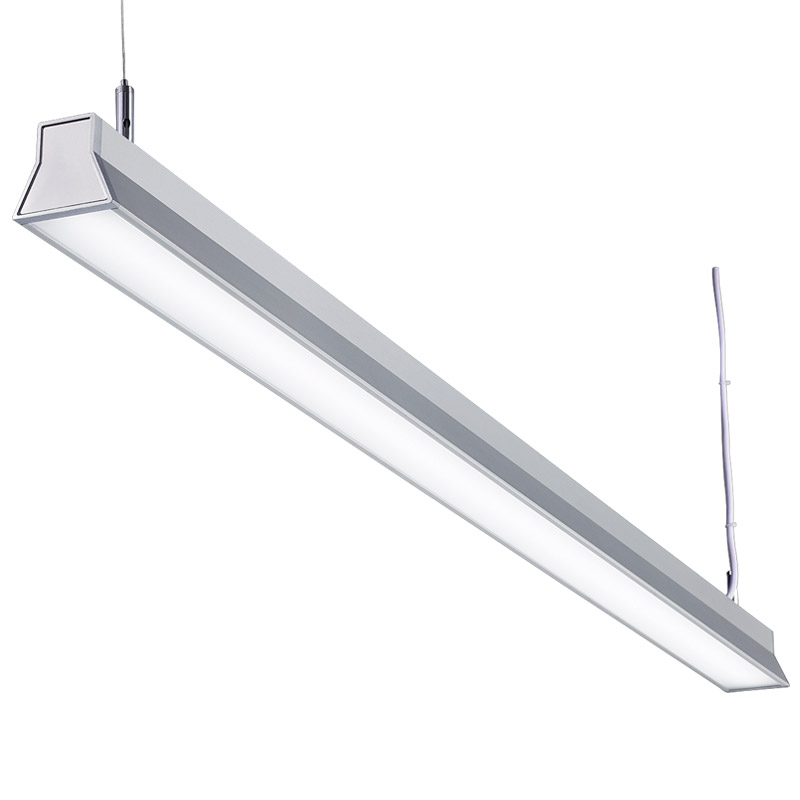 LED suspension linear lamp aluminium lighting fixture direct ilumination indoor chandelier lamp for office and commercial use LED-045