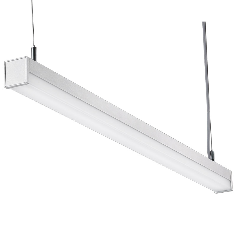 LED suspension linear lamp aluminium lighting fixture direct ilumination indoor chandelier lamp for office and commercial use LED-040A