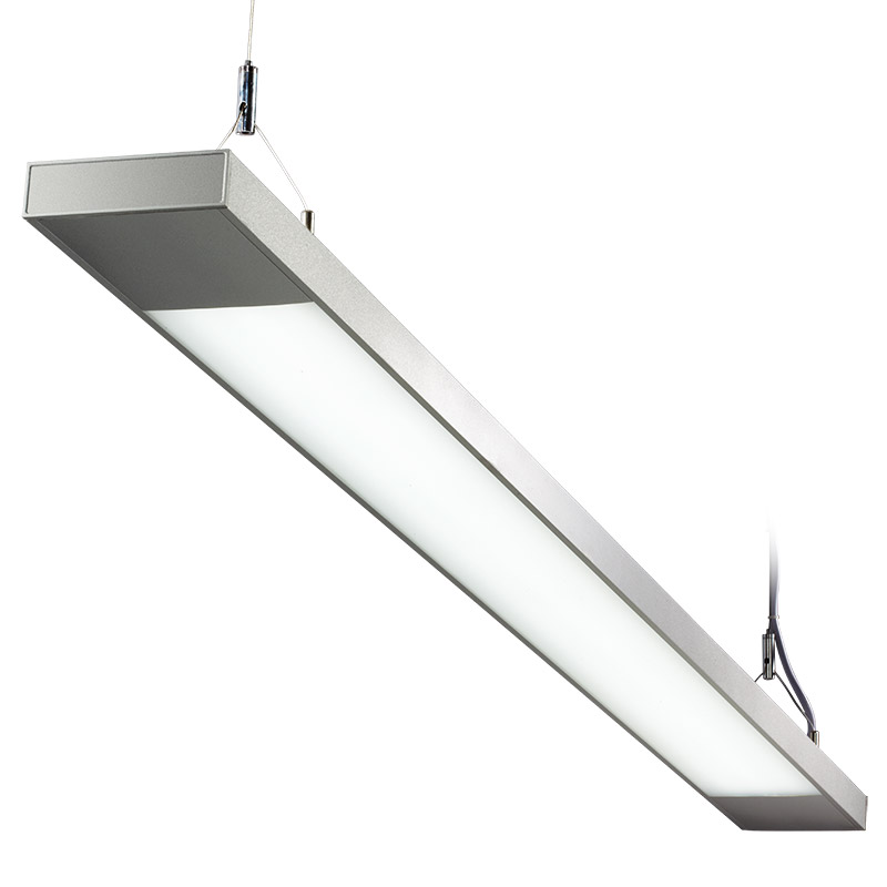 LED suspension linear lamp aluminium lighting fixture direct ilumination indoor chandelier lamp for office and commercial use LED-023B