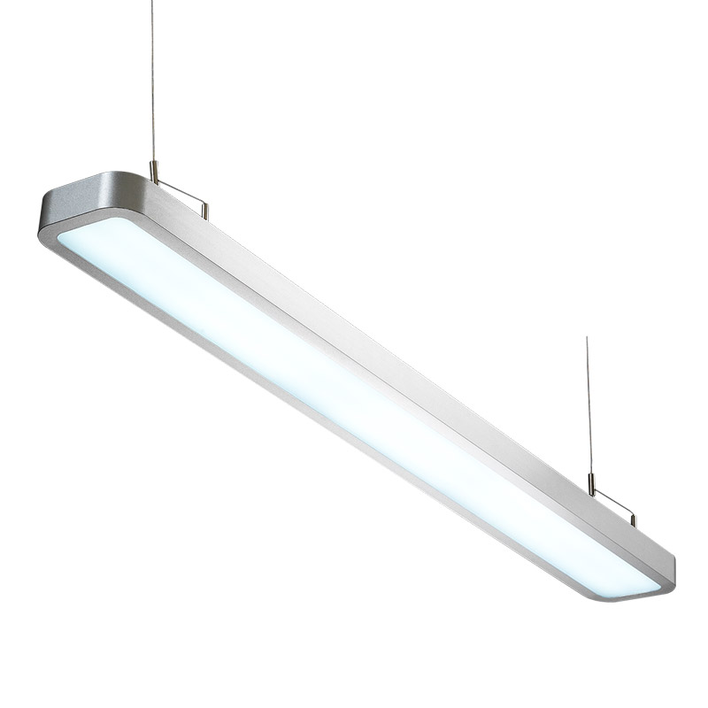 LED suspension linear lamp aluminium lighting fixture direct ilumination indoor chandelier lamp for office and commercial use LED-006