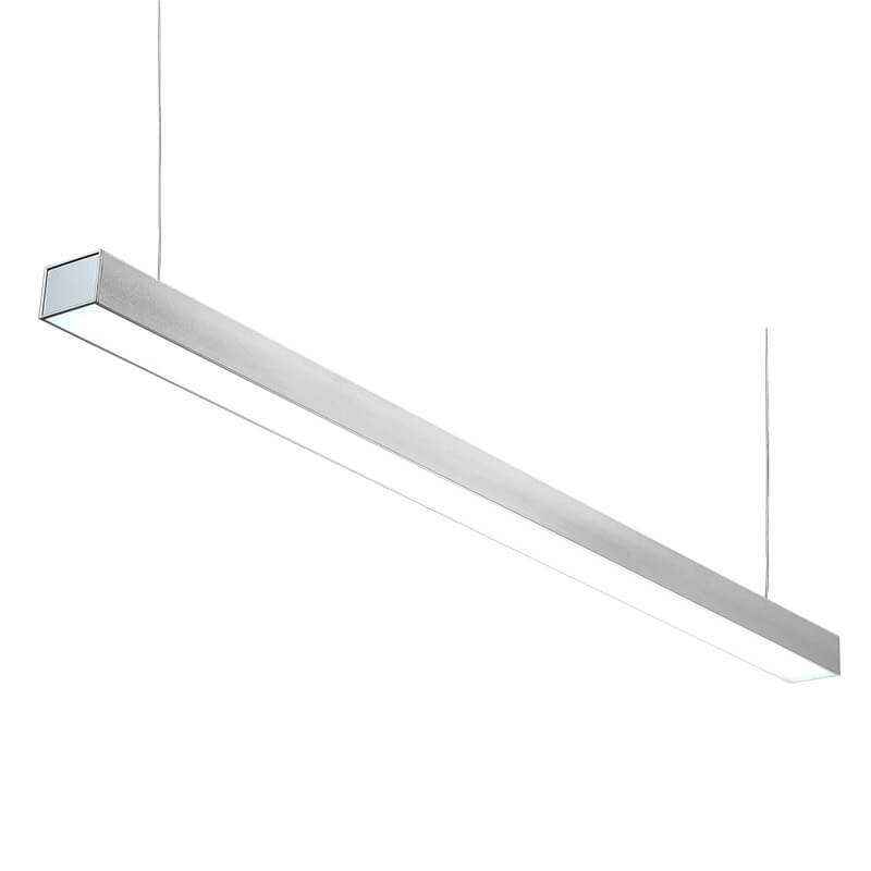 LED suspension linear lamp aluminium lighting fixture direct ilumination indoor linkable lamp chandelier lamp for office and commercial use LED-008B