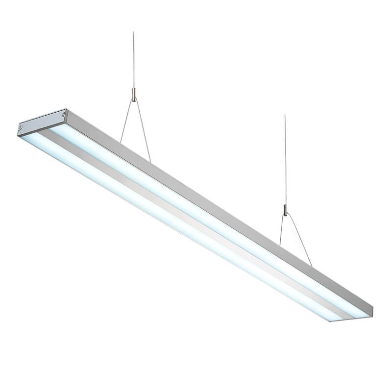 LED suspension linear lamp aluminium lighting fixture direct ilumination linkable lamp indoor chandelier lamp for office and commercial use LED-009