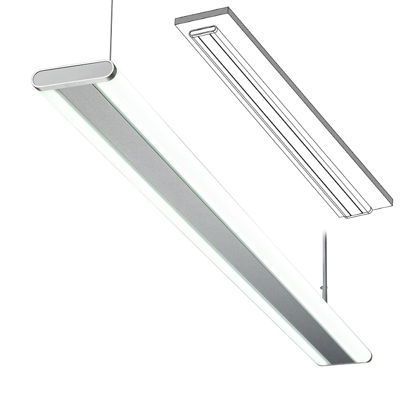 Led 015 Led Ceiling Mounted Linear Light Indoor Lamp For Office And Commercial And Residential